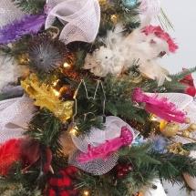 Uitsteker in de kerstboom in Saskatchewan, Canada door Irene Harms