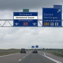 Bord Sneek snelweg