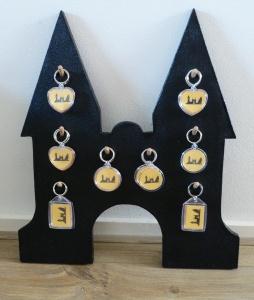 Display met sleutelhangers