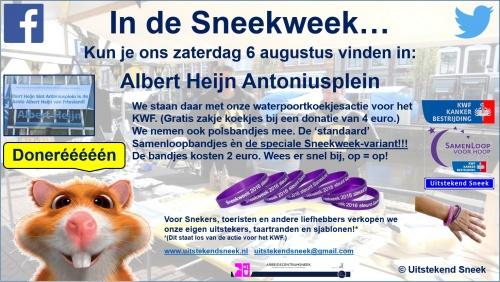 Aankondiging 6 augustus Sneekweek in AH