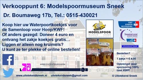 Verkooppunt 6 Modelspoormuseum Sneek